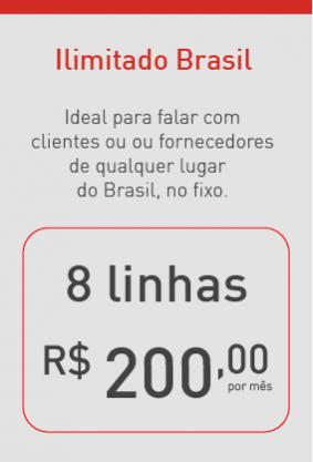 Plano ilimitado Brasil